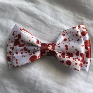 Blood Splatter Print Bow
